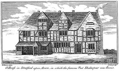 Stratford City Photograph - Shakespeare: Birthplace by Granger