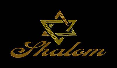 Peace Sign Photograph - Shalom by Daryl Macintyre