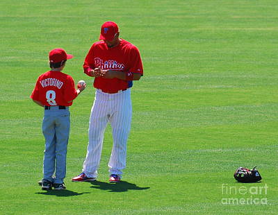 Shane Victorino  Art Print by Carol Christopher