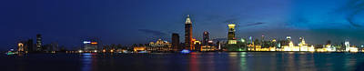 Photograph - Shanghai Bund Panorama - Night by Jason Chu