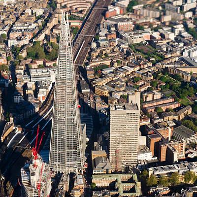 Photograph - Shard London Aerial View by Gary Eason