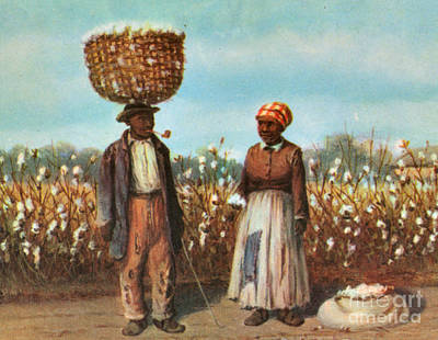 Sharecroppers, 19th Century Art Print by Photo Researchers