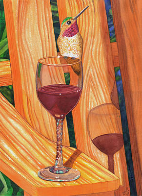 Wine-glass Painting - Sharing by Catherine G McElroy