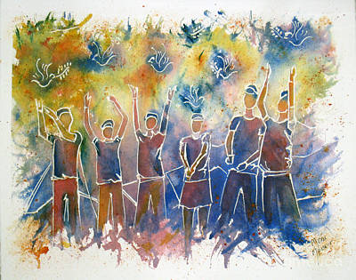 Painting - Sharing In Peace by Mona Mansour Jandali