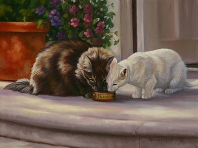Painting - Sharing by Kathleen  Hill