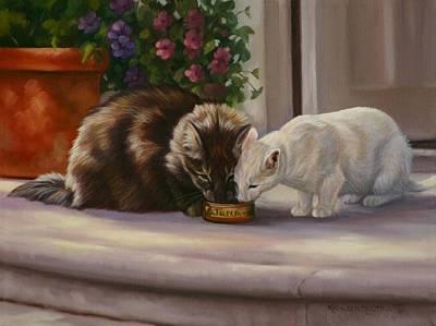 Sharing Art Print by Kathleen  Hill