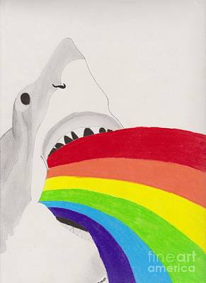 Shark Rainbow Art Print