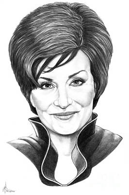 Famous People Drawing - Sharon Osbourne by Murphy Elliott