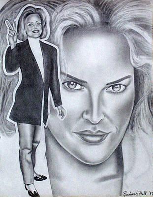 Sharon Stone Art Print by Rick Hill