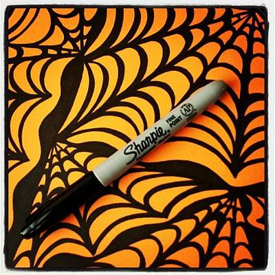 Abstract Wall Art - Photograph - @sharpie #sharpie #halloween #abstract by Mandy Shupp