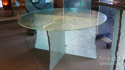 Reclaimed Glass Glass Art - Sharrons Table No 5 by Rick Silas