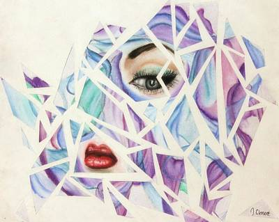 Cut Out Drawing - Shattered by Jessika Clement