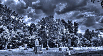 Haunted Places Photograph - Shawnee Cemetery by Jackie Novak