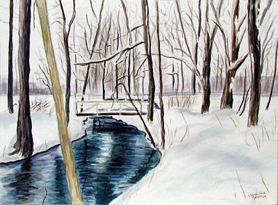 Painting - Shawnee Stream 2 by Clara Sue Beym