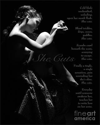 She Cuts Print by Shawn Aveningo and Robert R Sanders
