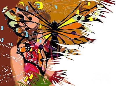 Robert Jensen Digital Art - She Gave Me Butterflies by Robert Jensen