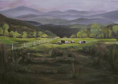 Painting - Sheep Of Vermont by Nancy Griswold