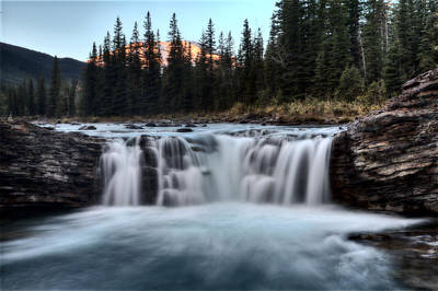 Rocky Digital Art - Sheep River Falls Allberta by Mark Duffy