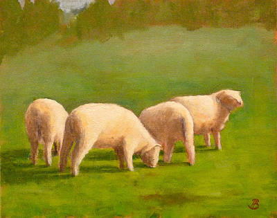 Sheep Shapes Art Print
