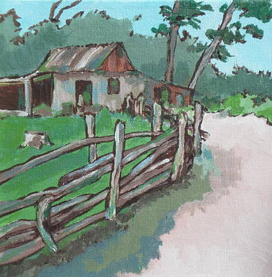 Painting - Sheep Sheering Shed by Sandy Tracey