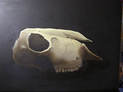 Painting - Sheep Skull by Eric Burgess-Ray