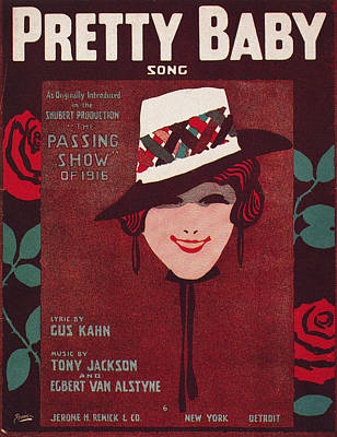 Photograph - Sheet Music Cover, 1916 by Granger