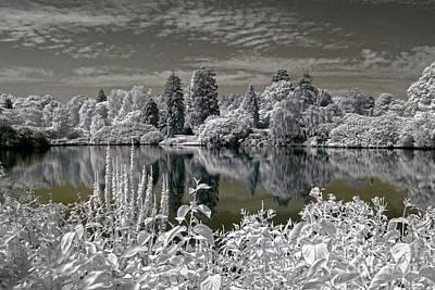 Sheffield Park Gardens Lake - Infrared Photography Art Print