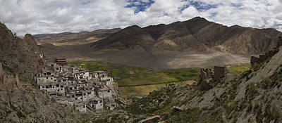 Tibetan Buddhism Photograph - Shegar Monastery And A Group Of Ruined by Phil Borges