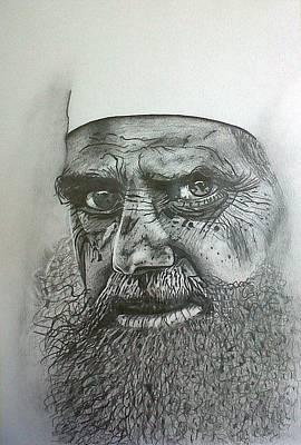 Drawing - Sheikh I. by Paula Steffensen