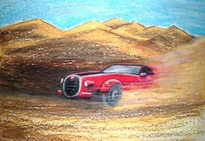 Sheikhs Dirt Racer Art Print by C Ballal