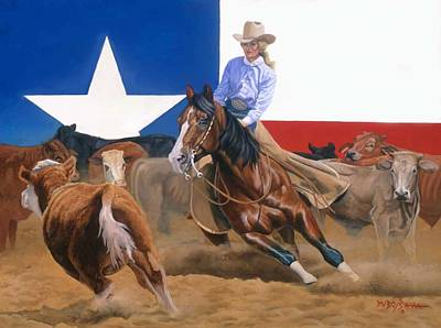 Painting - Sheila Welch And Doc-o-leo by Howard Dubois