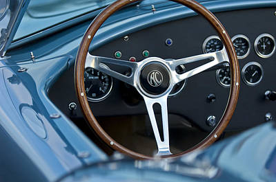 Photograph - Shelby Ac Cobra Steering Wheel by Jill Reger