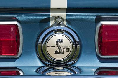 Photograph - Shelby Cobra Gt 500 Emblem by Jill Reger