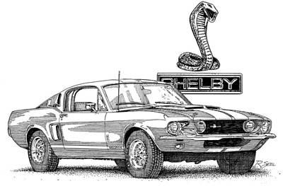 Shelby Gt350 Art Print