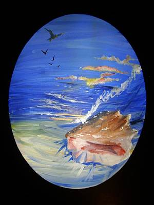 Diane Peters Painting - Shell 1 by Diane Peters