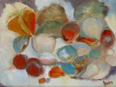 Painting - Shell Impression IIi by Susan Hanlon