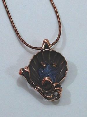Shibuichi Jewelry - Shell Star Fish Pendant by Michelle  Robison