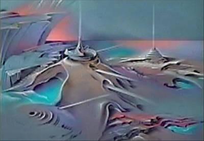Pastel - Shellport 1979 by Glenn Bautista