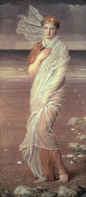 Lady On The Beach Painting - Shells  by Albert Joseph Moore