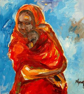 Painting - Sheltering .. by Negoud Dahab