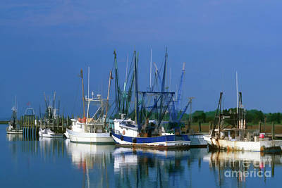 Trawler Digital Art - Shem Creek - Fs000295b by Daniel Dempster