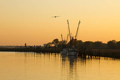 Art Print featuring the photograph Shem Creek by Carrie Cranwill