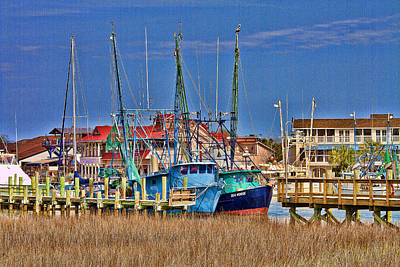 Shem Creek Shrimpers Art Print