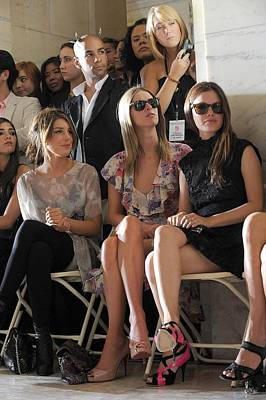 Mercedes-benz Fashion Week Show Photograph - Shenae Grimes, Nicky Hilton, Rachel by Everett