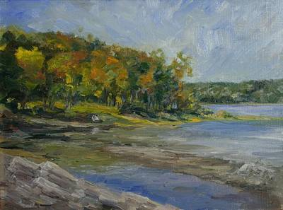 Painting - Shenipsit Light September by Edward White