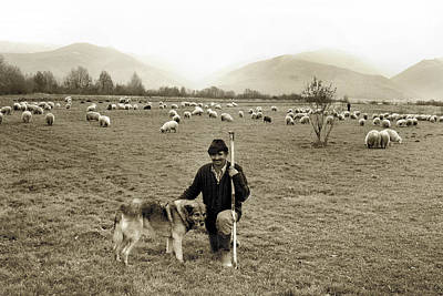 Photograph - Shepherd In Fagaras Mountains by Emanuel Tanjala