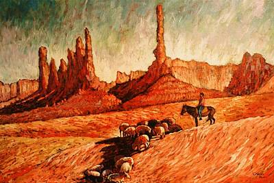 Art Print featuring the painting Sheppard by Charles Munn