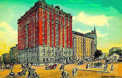 Painting - Sherman Square Hotel In New York City In 1907 by Dwight Goss