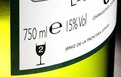 Sherry Bottle Label Art Print by Sheila Terry