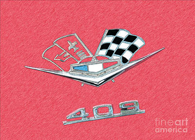 Super Cars Drawing - Shes Real Fine - My 409 by Anne Kitzman